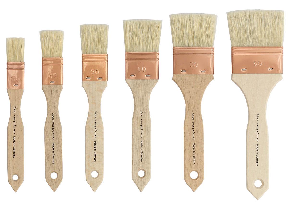 einzeln Größen Borstenpinsel kurze rohe Holzstiele Milan Borsten-Pinsel div