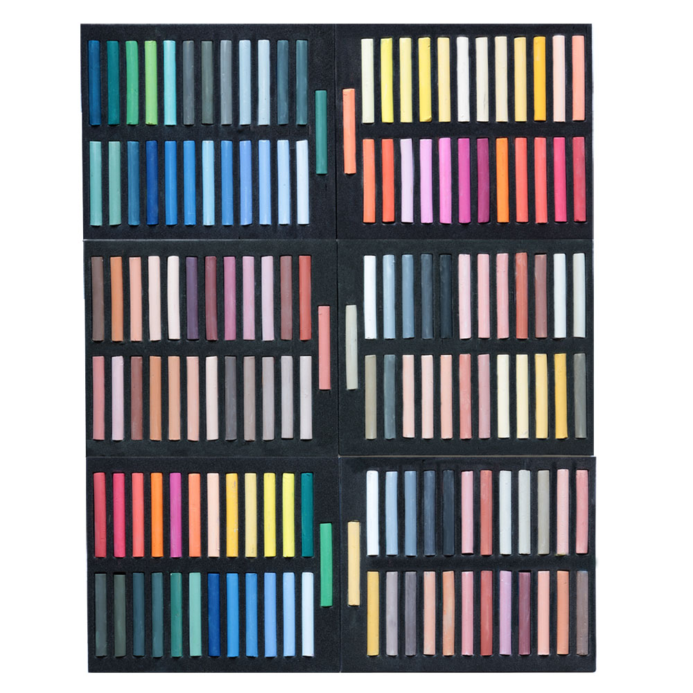 6 Stück Pastellkreide Kreide Chalk Malen Zeichnen Warmtöne Kalttöne Aquarell
