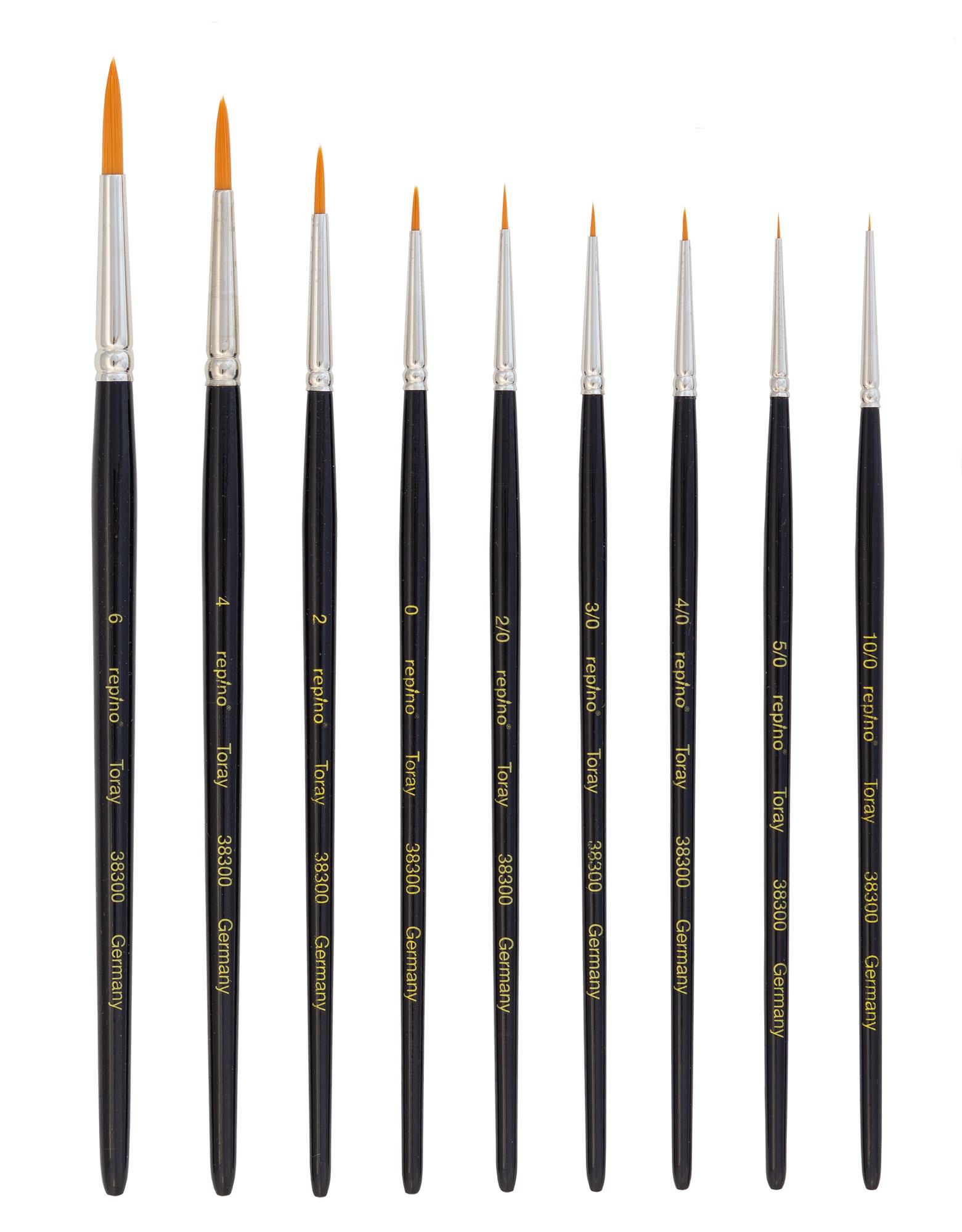 3 verschiedene Größen für Modellbau Pinsel-Set Tabletop-Figuren Stripping